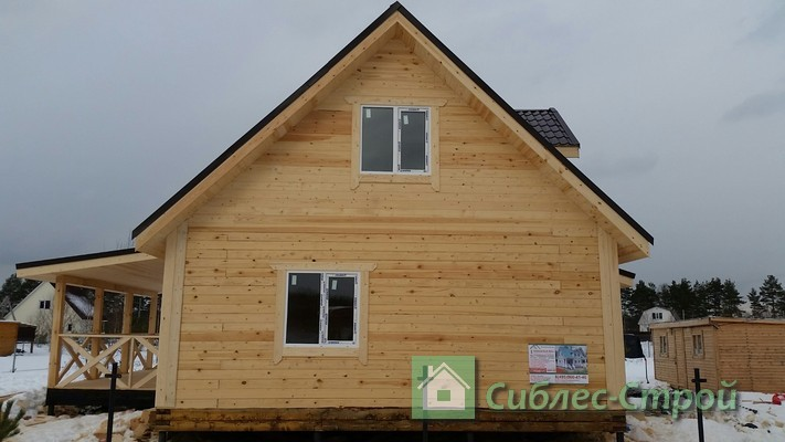 Построили дом 6x6 в Огурцово.