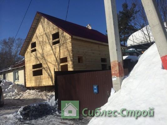 Сдан сруб дома из бруса 7.5x8.5 в Новосибирске