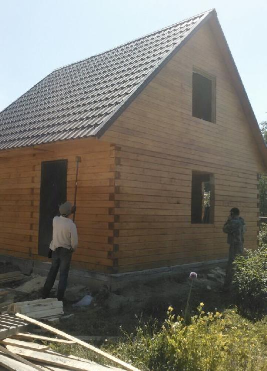"""Дом из бруса 150x150 в посёлке """"Рыбачий""""."""
