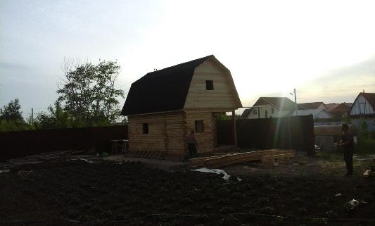 Строительство сруба бани под ключ в Бердске завершено.